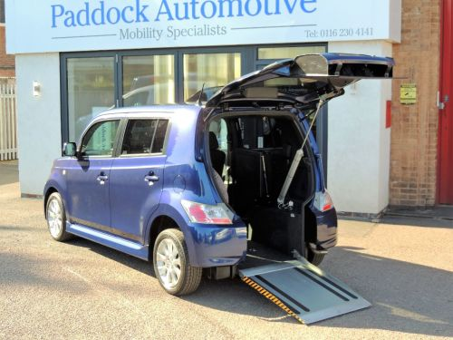 Daihatsu Materia 1.5 Auto Drive from Wheelchair/Wheelchair Up Front Switch Disabled Wheelchair Adapted Vehicle WAV Wheelchair Adapted Petrol Blue Mica