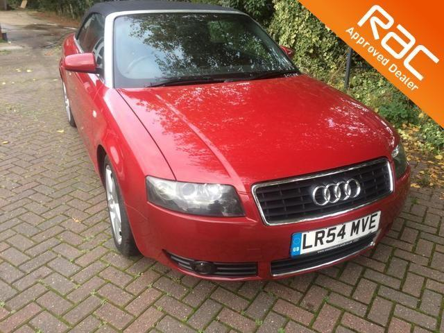 Audi A4 1.8T Sport 2dr Multitronic Convertible Petrol Red