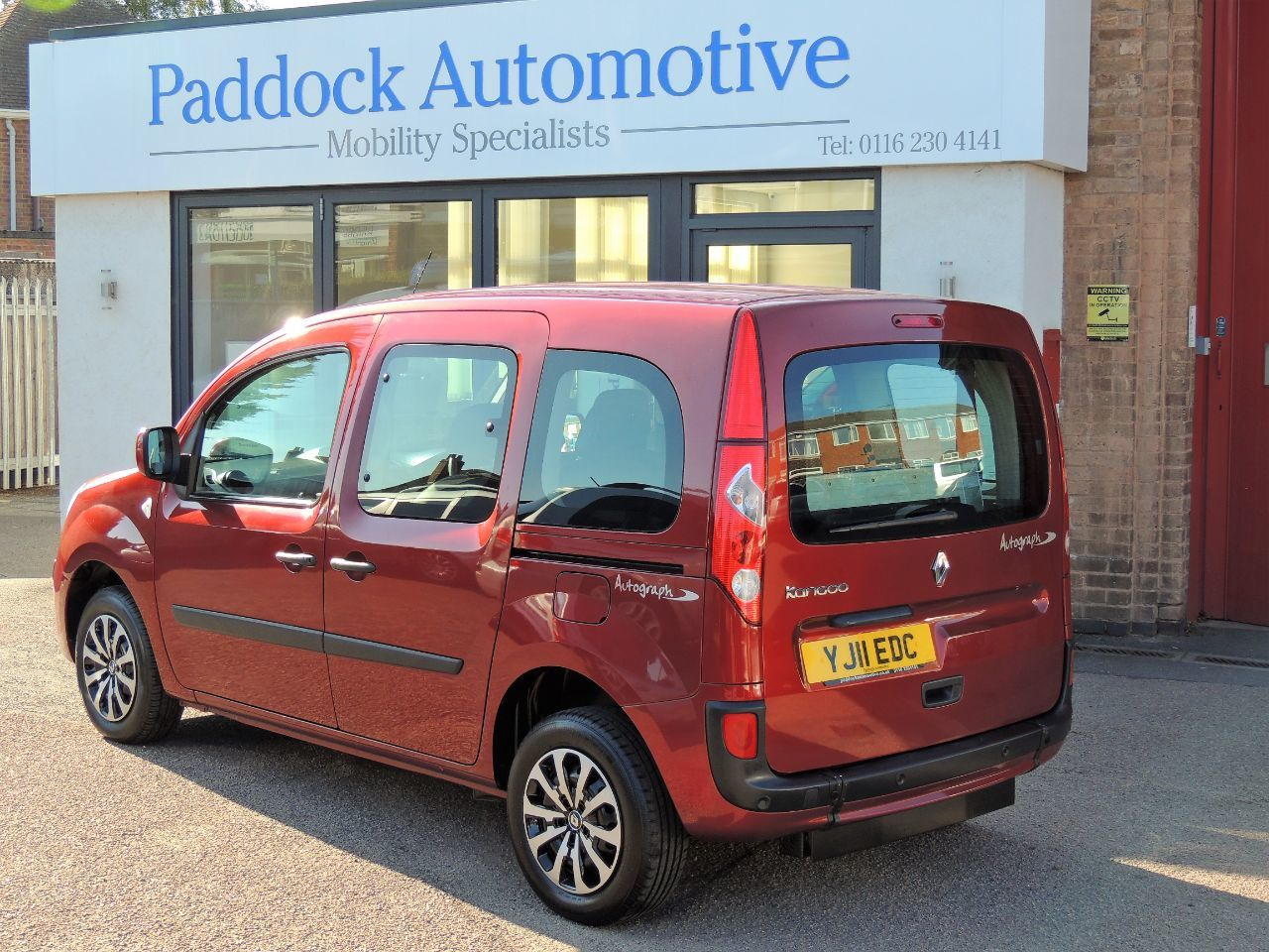 Renault Kangoo 1.6 Expression Auto Disabled Wheelchair Adapted Vehicle WAV Wheelchair Adapted Petrol Ruby Red Mica