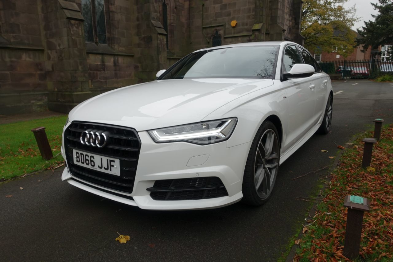 Audi A6 2.0 TDI Ultra Black Edition 4dr S Tronic Saloon Diesel White