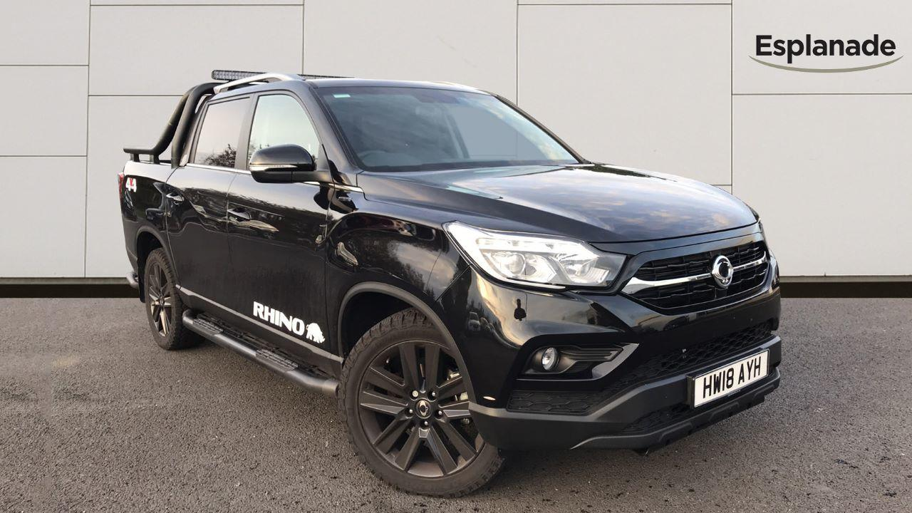 SsangYong Musso 2.2 Double Cab Pick Up Rhino 4dr Auto AWD Pick Up Diesel Black