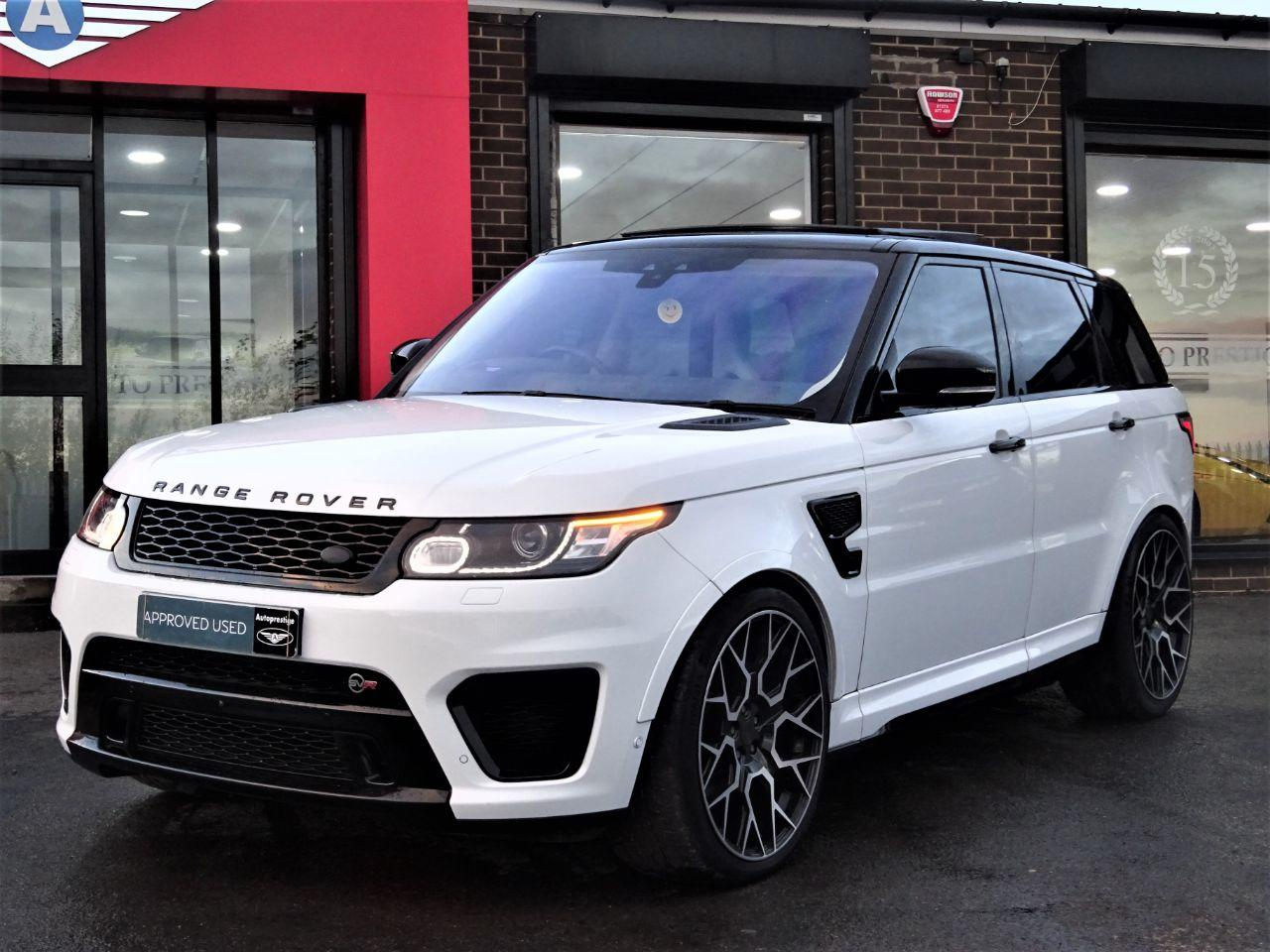 Land Rover Range Rover Sport 5.0 V8 S/C SVR 5dr Auto MASSIVE SPECIFICATION OVER 10K WORTH FUJI WHITE Estate Petrol White
