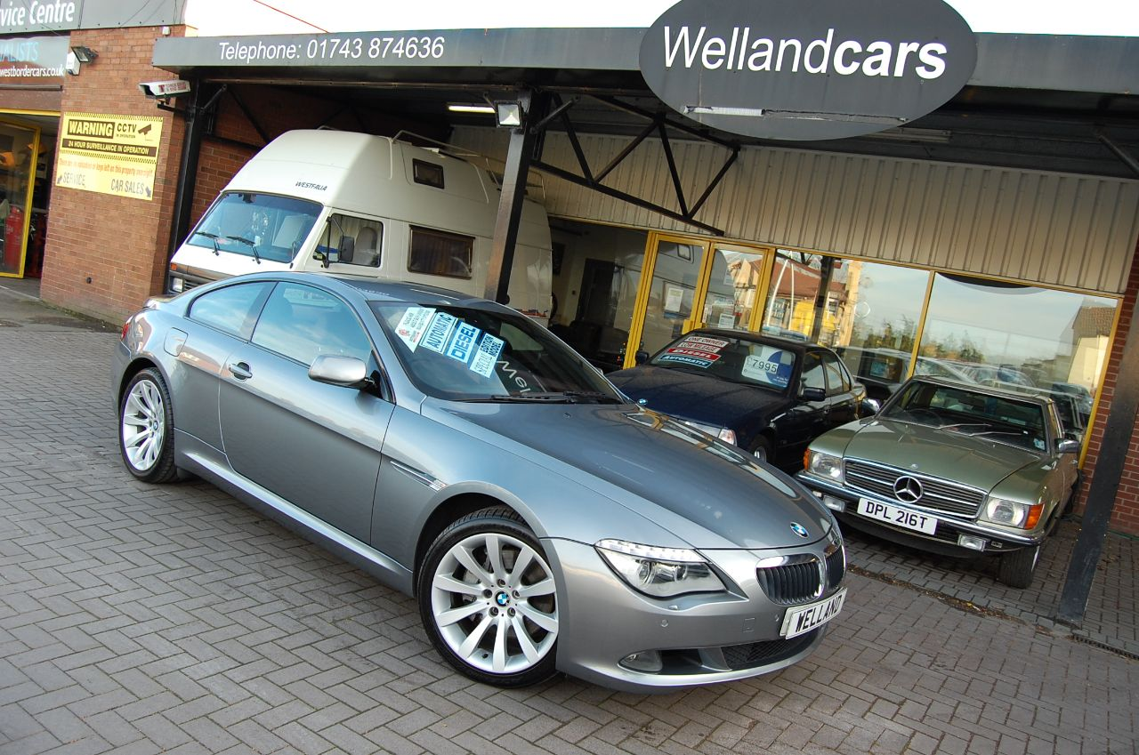 BMW 6 Series 3.0 635 D SPORT AUTO COUPE HUGE SPECIFICATION HEADS UP DISPLAY LOW MILEAGE Coupe Diesel Grey at Welland Cars Shrewsbury