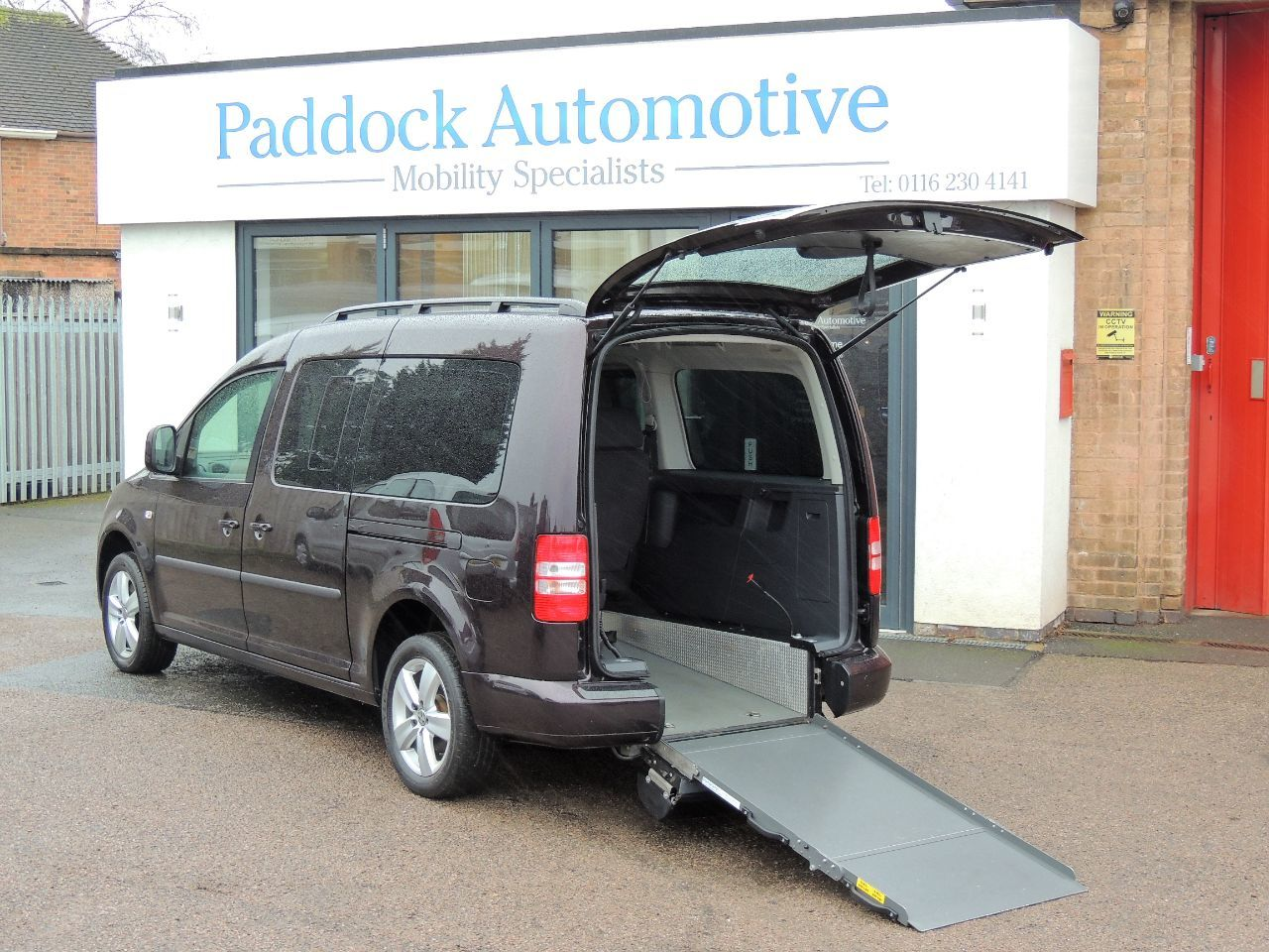 Volkswagen Caddy Maxi Life 1.6 TDI Disabled Wheelchair Adapted Vehicle WAV Wheelchair Adapted Diesel Blackberry Mica