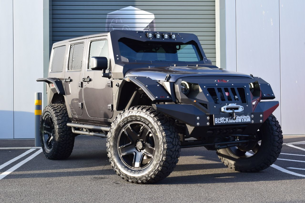 Jeep Wrangler 2.8 CRD Overland 4dr Auto FAB FOURS GRUMPER EDITION Convertible Diesel Grey