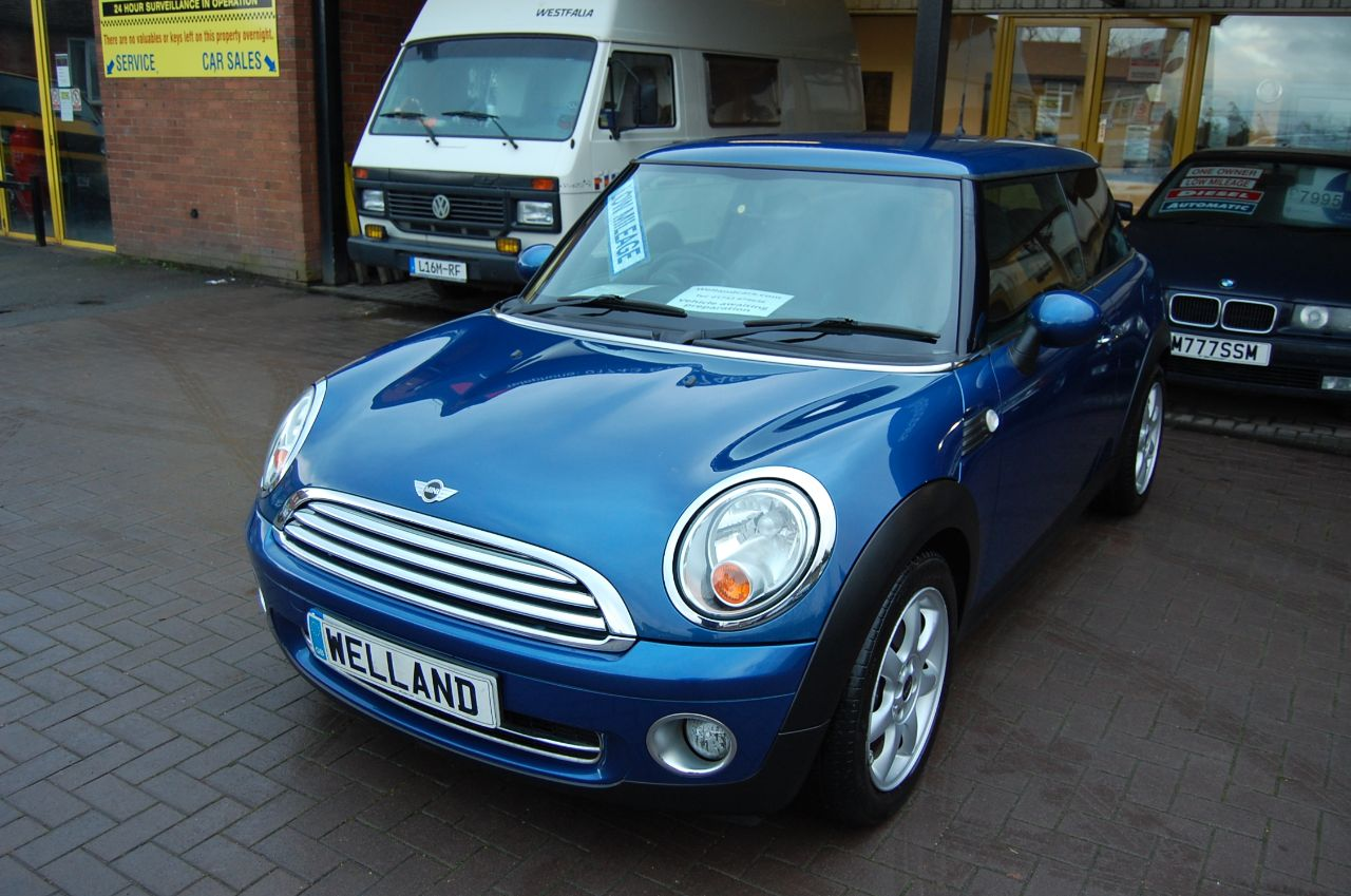 2007 Mini Hatchback ONE 1.4 3 DOOR 6 SPEED MANUAL PEPPER PACK LOW INSURANCE GROUP INSURANCE, IDEAL FIRST CAR FSH