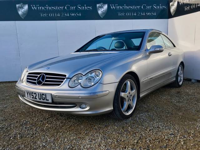 Mercedes-Benz CLK 5.0 CLK500 Avantgarde 2dr FSH AMG ALLOYS SAT NAV LEATHER FUTURE CLASSIC STUNNING CONDITION Coupe Petrol Silver