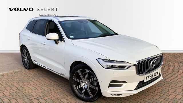Volvo XC60 2.0 D4 AWD Inscription Pro Automatic (Xenium Pack, Blis, Rear Tints, Sunroof) Crossover Diesel 707 Crystal White