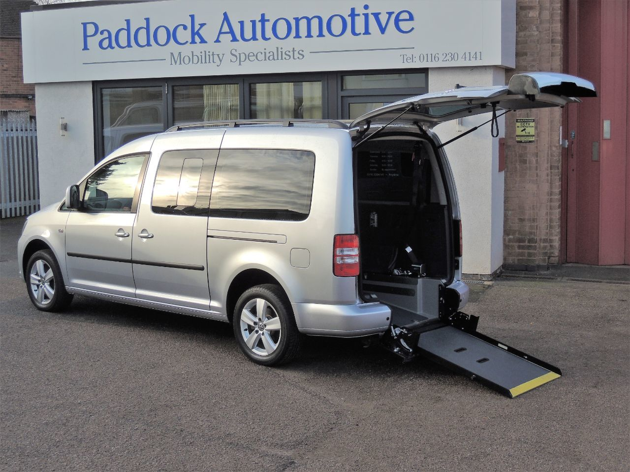 Volkswagen Caddy Maxi Life 1.6 TDI DSG M1 Disabled Wheelchair Adapted Vehicle WAV Wheelchair Adapted Diesel Silver Mica