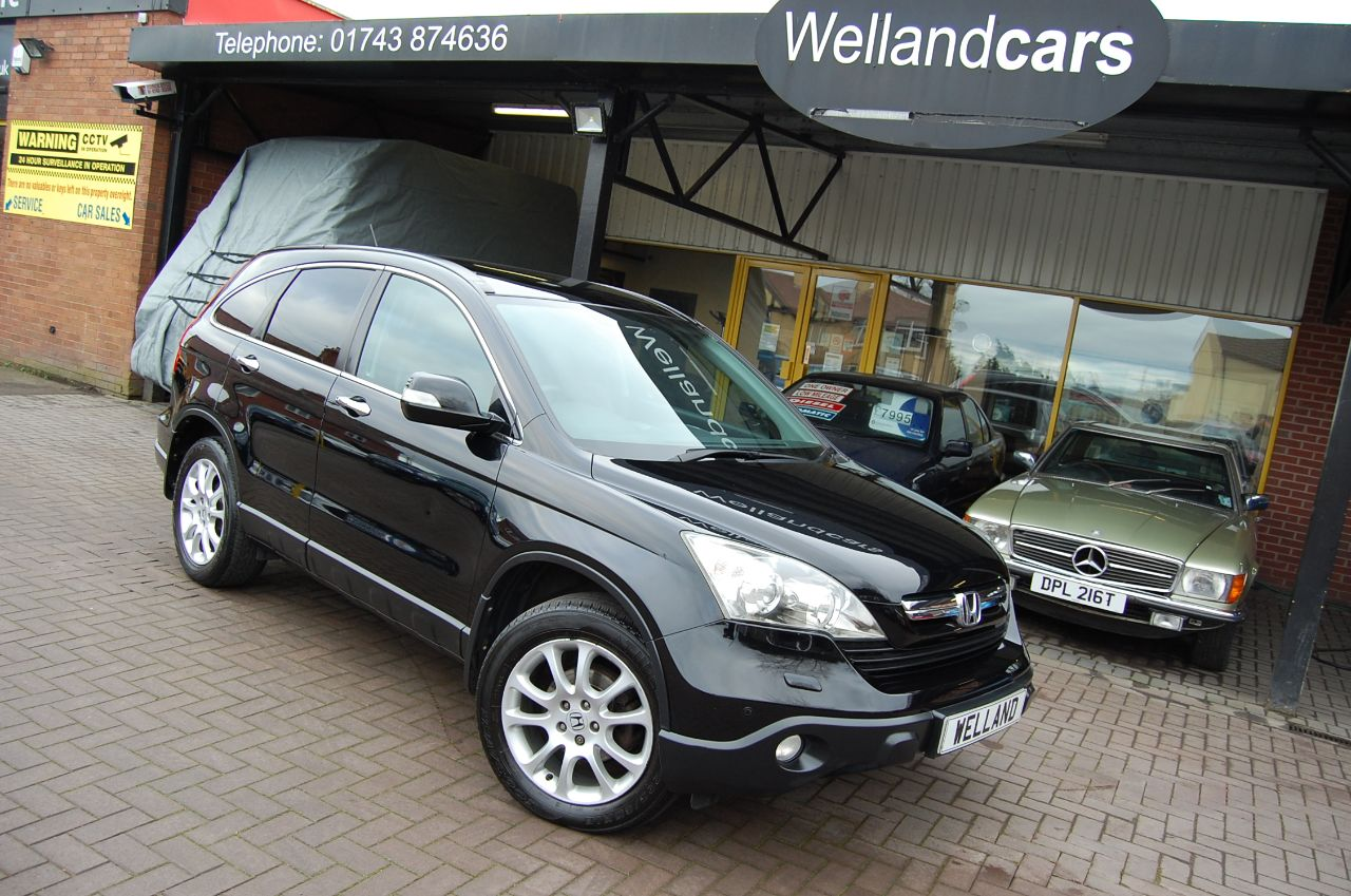 Honda CR-V 2.2 i-CTDi EX 5 DOOR 6 SPEED MANUAL PANORAMIC ROOF TOUCH SCREEN NAVIGATION Estate Diesel Black at Welland Cars Shrewsbury
