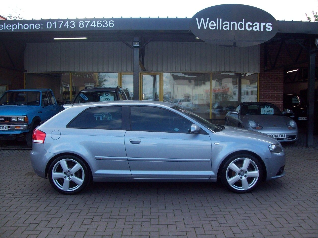 Audi A3 2.0 TDi S line 3dr 6 Speed Diesel, Full Black Leather, Only 2 Previous Owners, F/S/H Hatchback Diesel Silver at Welland Cars Shrewsbury