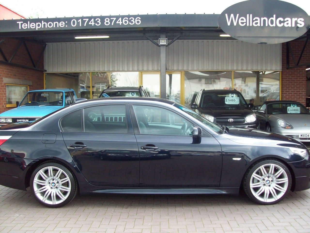 BMW 5 Series 3.0 535d M Sport 4dr Step Auto, Full BMW S/History, Massive Spec ! See Below for details Saloon Diesel Metallic Black at Welland Cars Shrewsbury