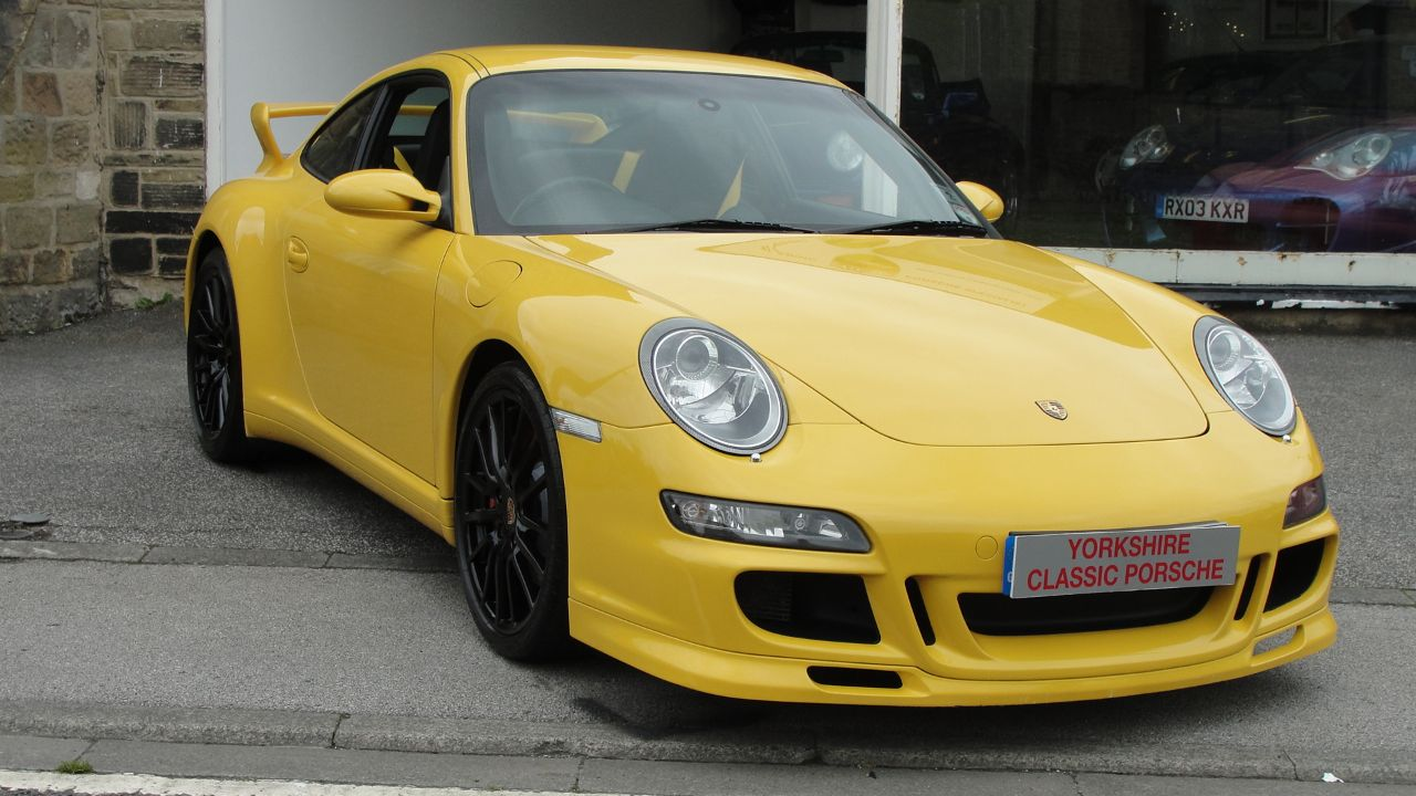 Porsche 911 3.8 4S 2dr Coupe Petrol Yellow at Yorkshire Classic Porsche Collingham