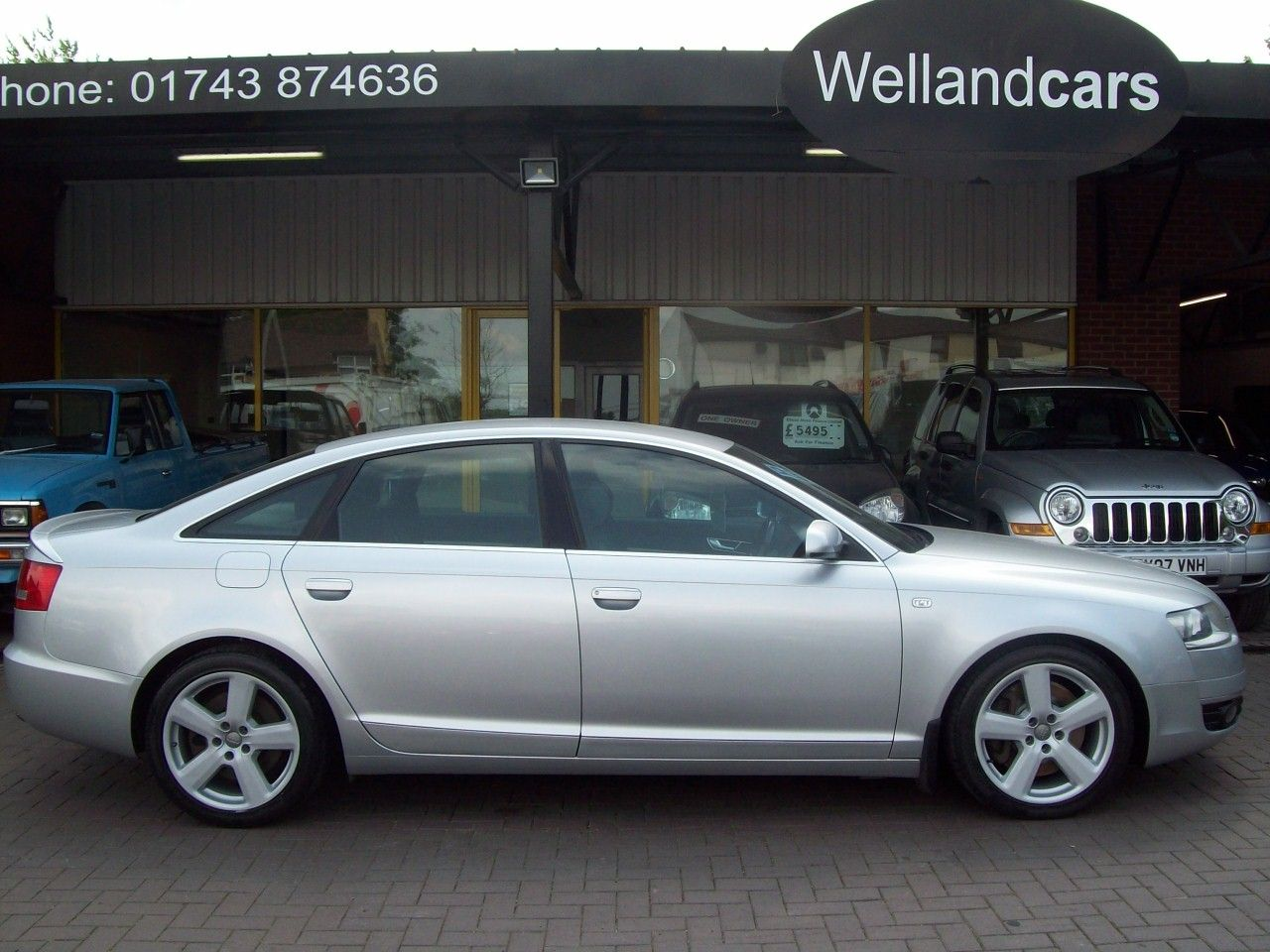 Audi A6 3.0 TDI Quattro S Line 4dr Saloon,6 Speed Manual,F/S/H, Folding Rear Seats,Cruise,Upgraded Alloys Saloon Diesel Silver at Welland Cars Shrewsbury