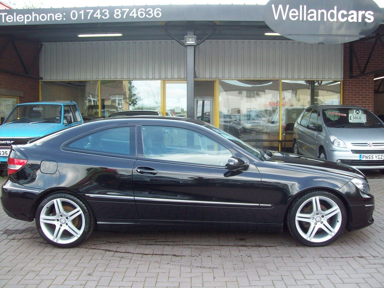 "Mercedes-Benz CLC Class 2.1 220 CDI Sport 3dr Auto/paddle Shift, low miles, F/S/H, 18"" Alloys, Park Assist Coupe Diesel Black at Welland Cars Shrewsbury"