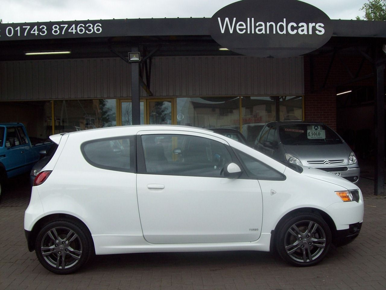 Mitsubishi Colt 1.5 Turbo Ralliart Z30 3dr Manual, A/C, Full Dealer History, 1 Previous Owner, 16`Graphite Alloys Hatchback Petrol White at Welland Cars Shrewsbury