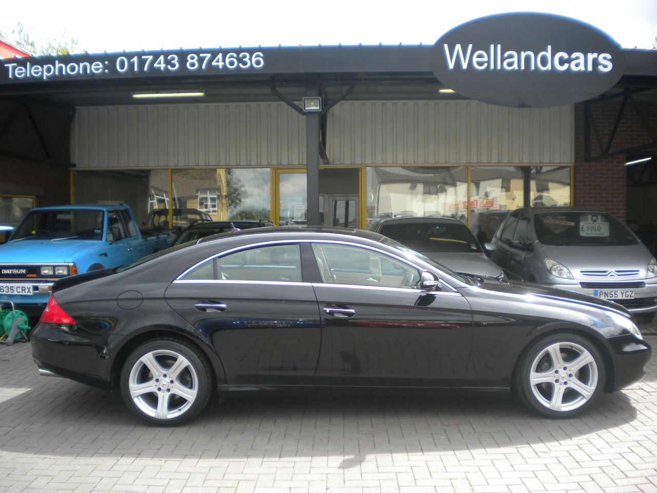 Mercedes-Benz CLS 3.0 CLS320 CDI V6 4dr 7 Speed Tip/Auto, Sand Leather, Sunroof, Keyless Go, Comand Coupe Diesel Black at Welland Cars Shrewsbury
