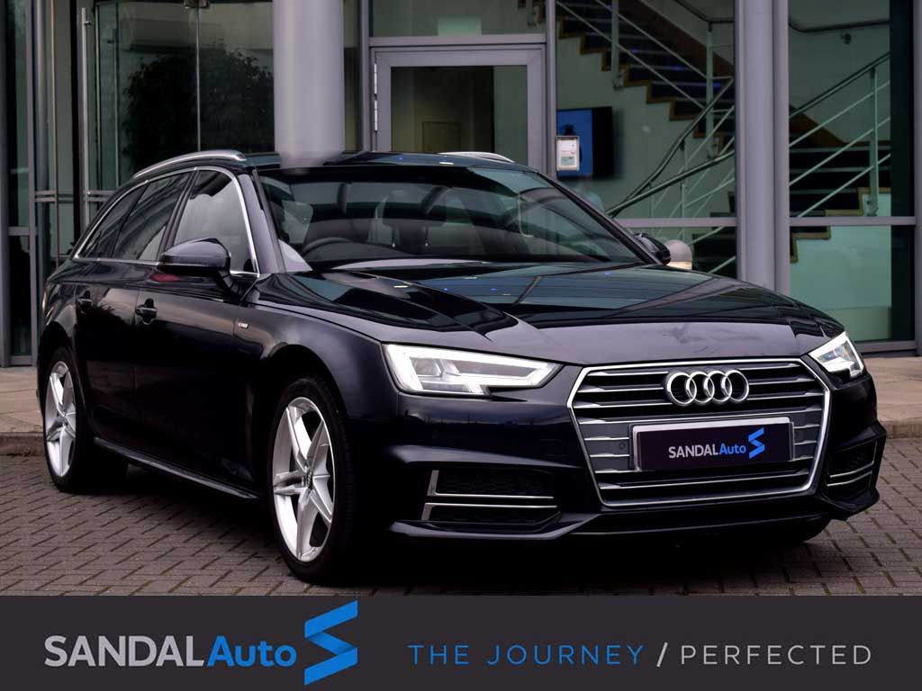 Audi A4 2.0 TDI 190 S Line 5dr S Tronic Estate Diesel Moonlight Blue