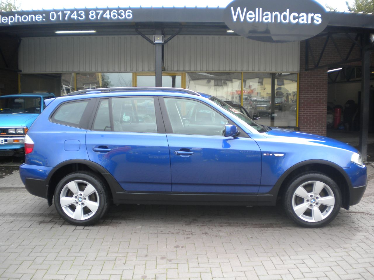 BMW X3 2.0d SE 5dr Dynamic Sports Pack, F/S/H, Low Miles, Tow Pack , Climate A/C Estate Diesel Montego Blue Metallic at Welland Cars Shrewsbury
