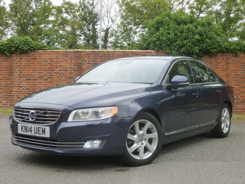 Volvo S80 1.6 D2 SE NAV Saloon Diesel Blue metallic with Black leather