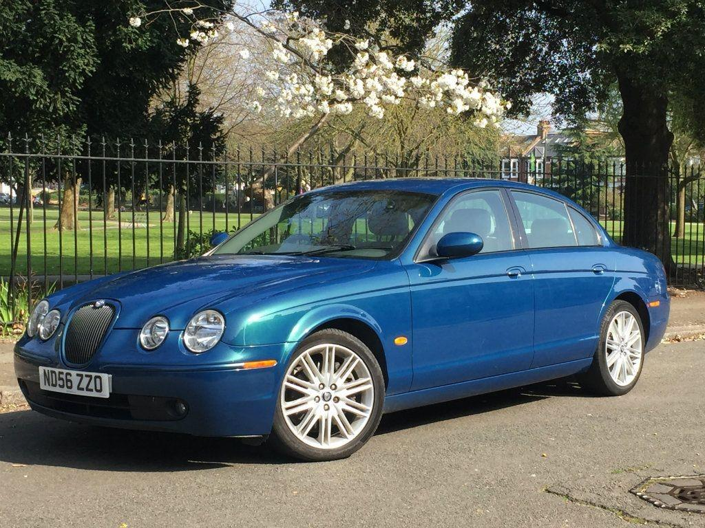 Jaguar S-Type 2.7 V6 SPORT Saloon Diesel Blue with Grey Leather