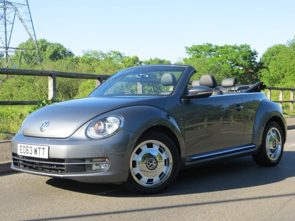 Volkswagen Beetle 2.0 DESIGN TDI DSG Convertible Diesel Grey with Black leather