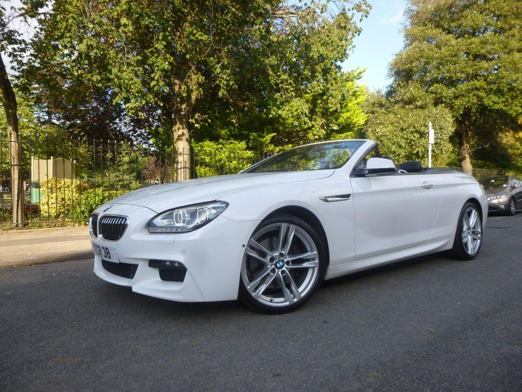 BMW 6 Series M Sport Convertible Convertible Petrol White with Black leather