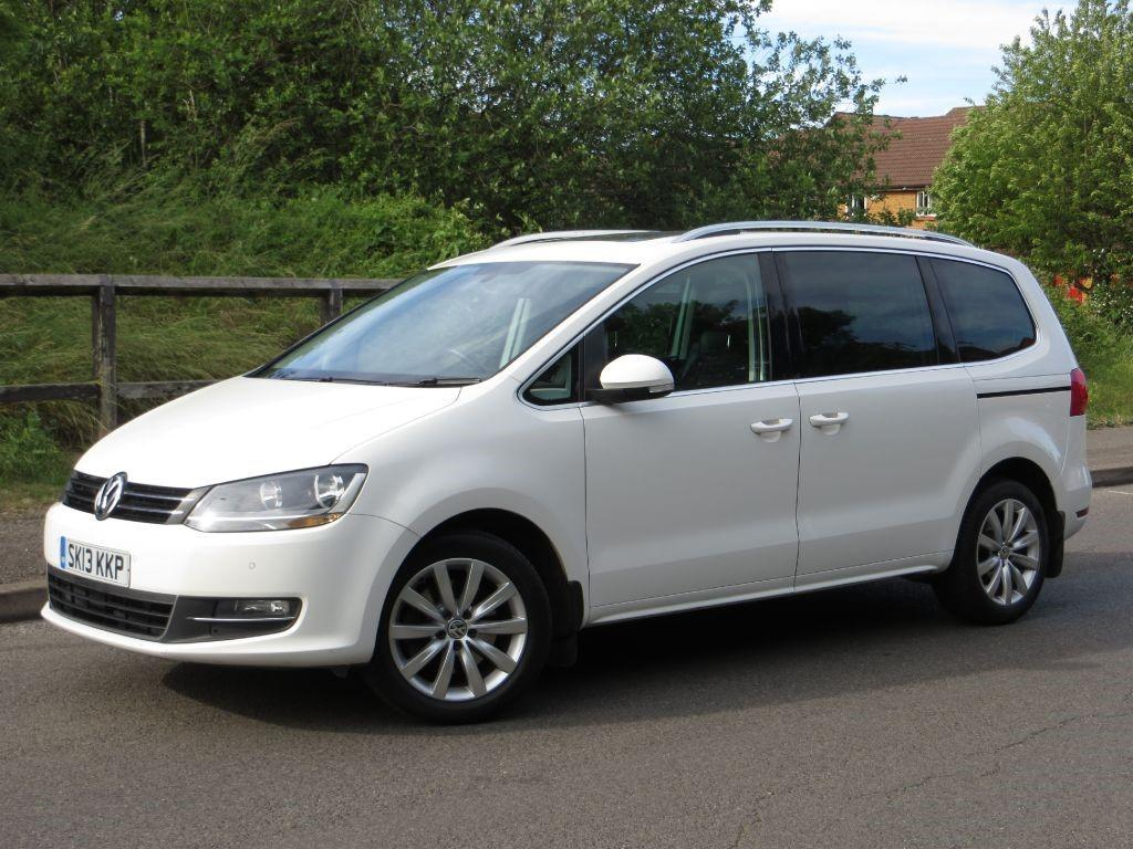 Volkswagen Sharan 2.0 SEL TDI DSG MPV Diesel White with Black leather