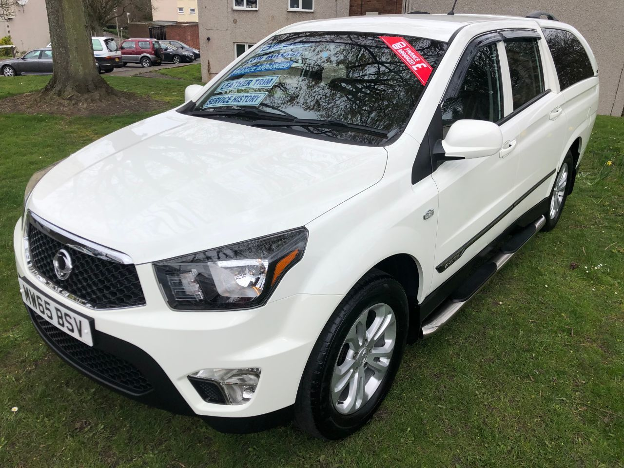 SsangYong Korando Sports 2.0 Double Cab Pick Up EX 5dr 4WD *ONLY 27k MILES* Pick Up Diesel White