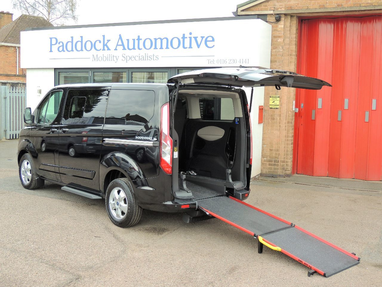 Ford Tourneo Custom 2.0 INDEPENDENCE RS AUTO Wheelchair Adapted Diesel Magnetic Black Mica