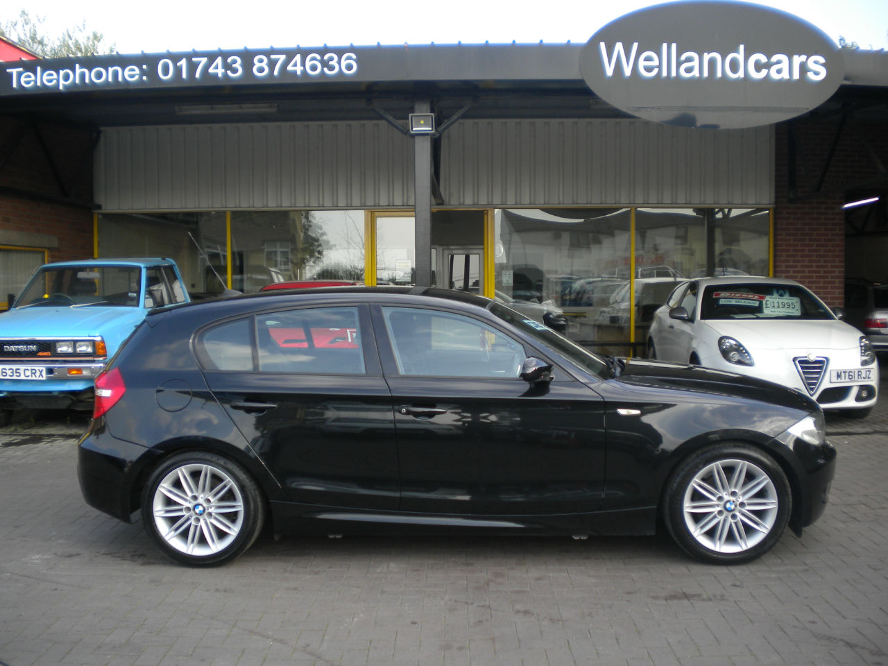 BMW 1 Series 2.0 118d M Sport 5dr 6 Speed Manual, Rear Parking Sensors, 1/2 Leather, F/S/H, Low miles Hatchback Diesel Black at Welland Cars Shrewsbury