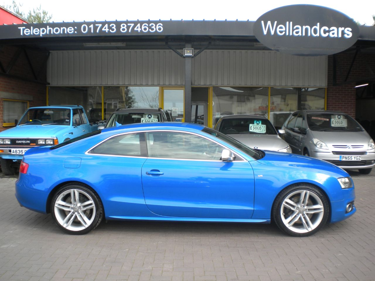 Audi S5 Quattro 4.2 V8 2dr Coupe 354 BHP 6 Speed Manual, F/S/H, Navigation,Leather,Bang and Olufsen upgrade Coupe Petrol Sprint Blue Pearl Effect  at Welland Cars Shrewsbury