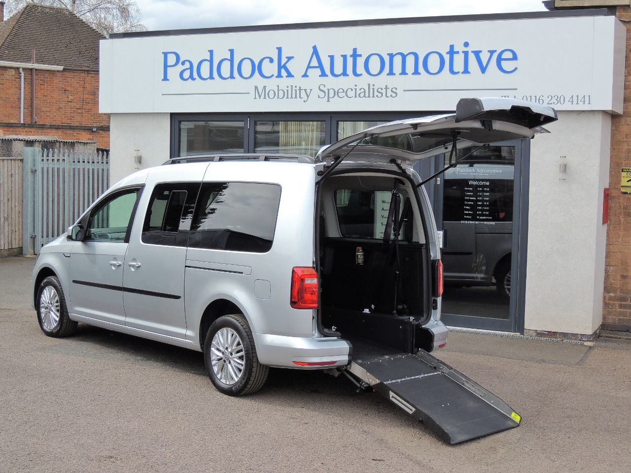 Volkswagen Caddy Maxi Life 2.0 TDI DSG Disabled Wheelchair Adapted Vehicle WAV Wheelchair Adapted Diesel Reflex Silver Mica