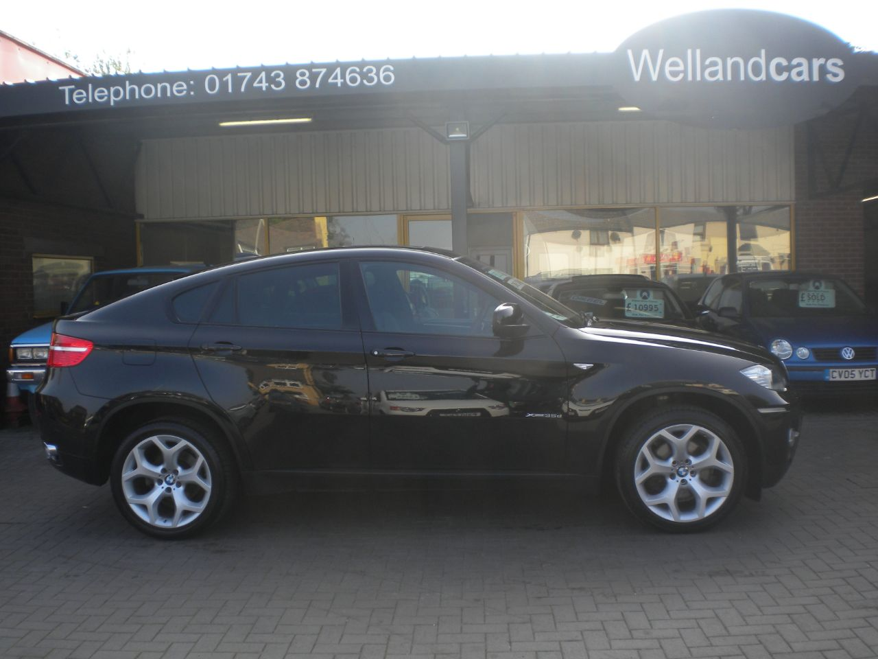 BMW X6 3.0 xDrive35d Twin Turbo 5dr Step Auto,1 Owner, F/S/H, Sunroof, Full Media and Nav, Power Boot. Coupe Diesel Black Sapphire Metallic at Welland Cars Shrewsbury