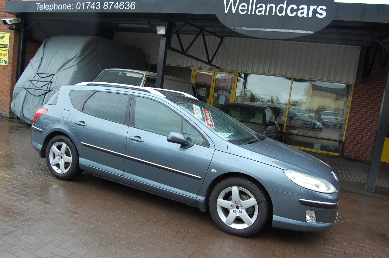 Peugeot 407 2.0 HDi SW EXECUTIVE ESTATE FULL LEATHER BLUETOOTH PHONE PREP PANORAMIC ROOF Estate Diesel Grey at Welland Cars Shrewsbury