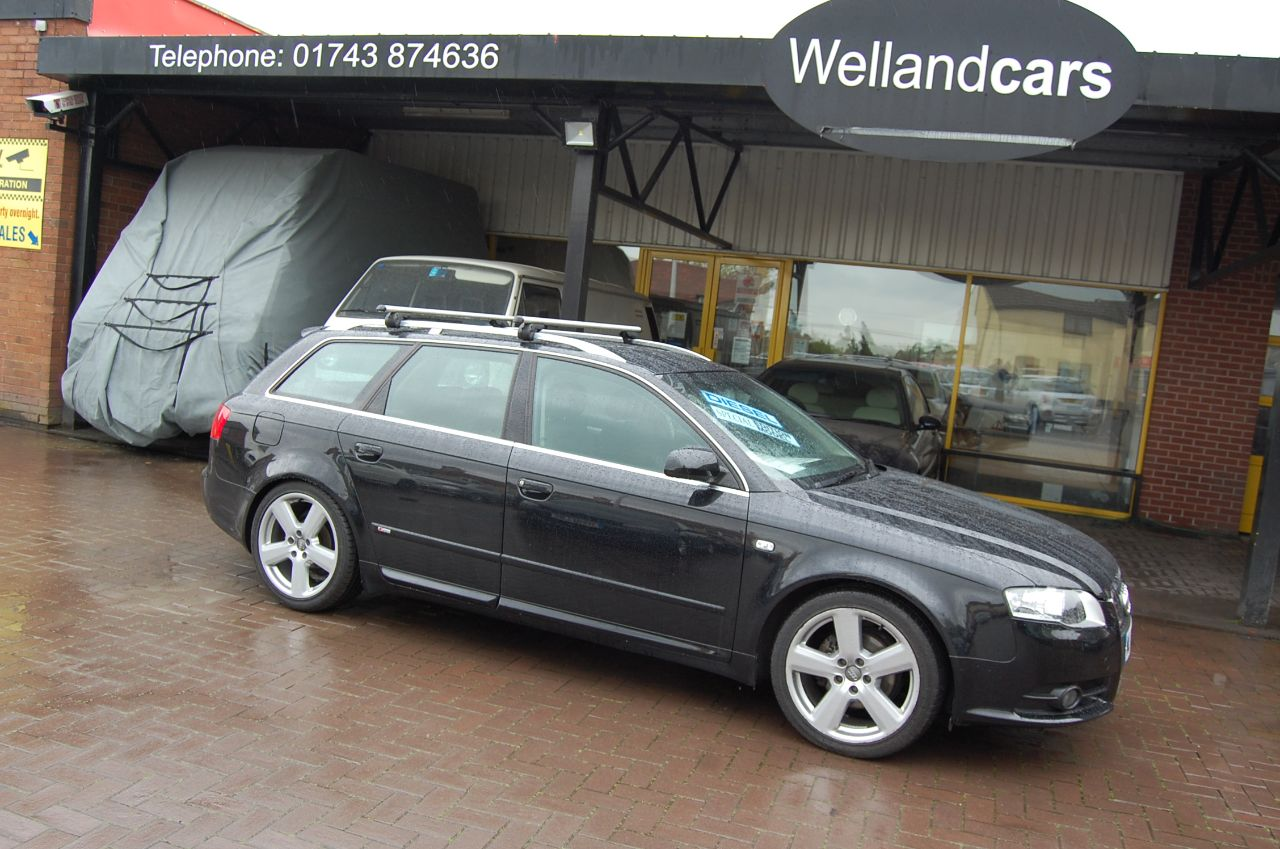 Audi A4 AVANT S LINE 1.9 TDI NAVIGATION BLUETOOTH SERVICE HISTORY Estate Diesel Black at Welland Cars Shrewsbury