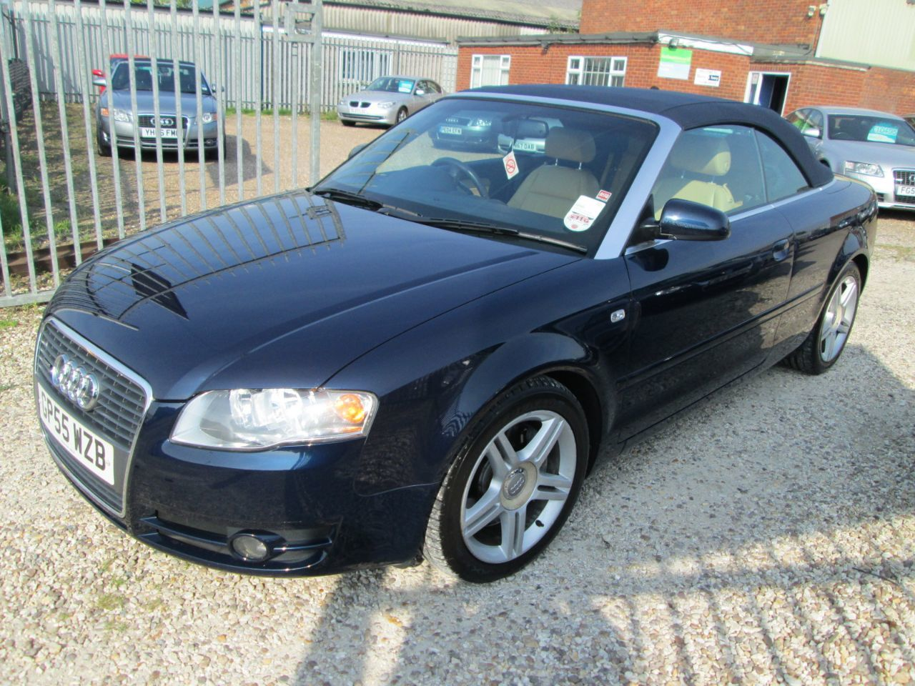 Audi A4 3.0 TDi Quattro Sport 2dr Tip Auto + CREAM LEATHER + SAT NAV + FULL AUDI SERVICE HISTORY Convertible Diesel Blue