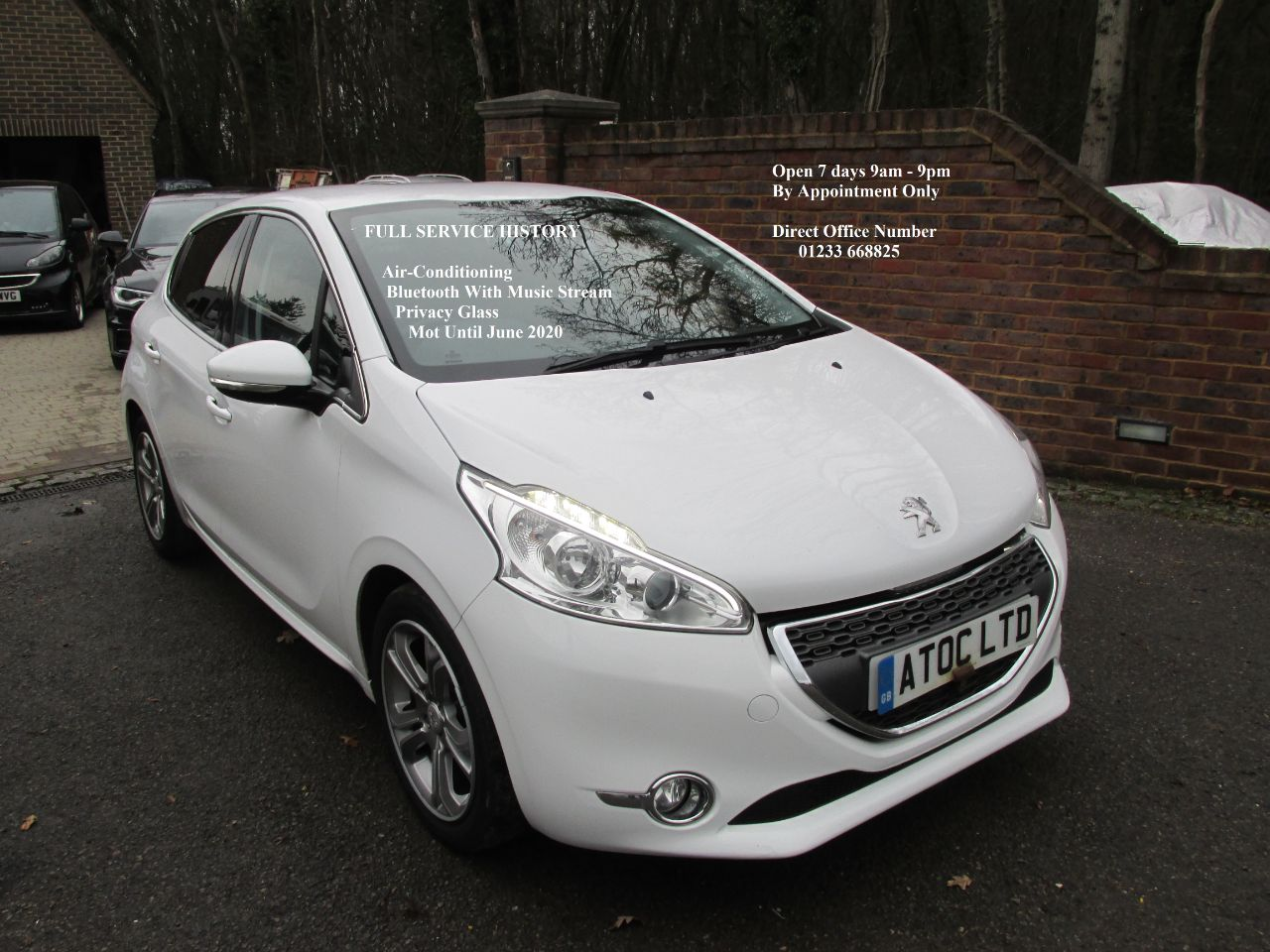 Peugeot 208 1.4 VTi Allure 5dr Hatchback Petrol White at A Touch of Class Kingsnorth