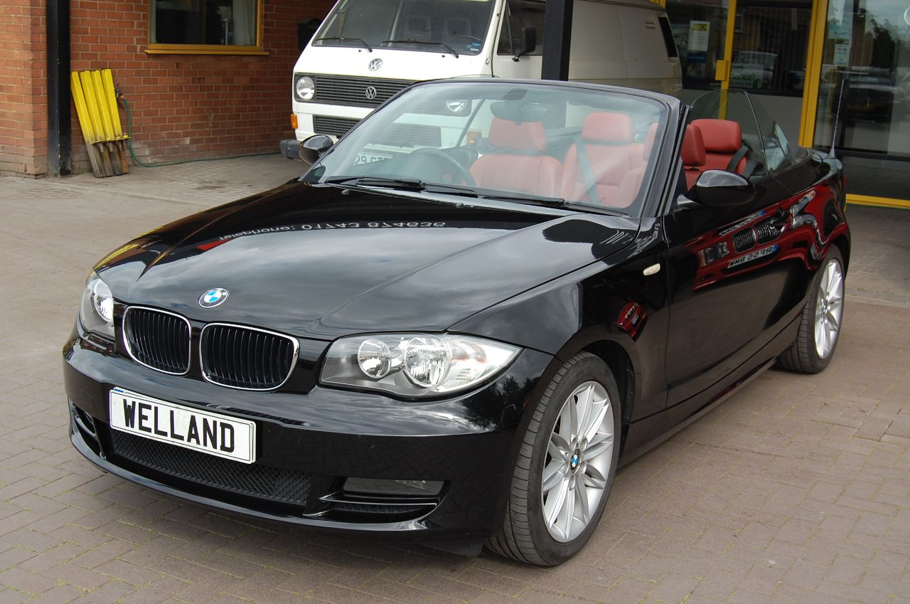 2008 BMW 1 Series 2.0 120d SE SPORT CONVERTIBLE 6 SPEED RED LEATHER FULL SERVICE HISTORY