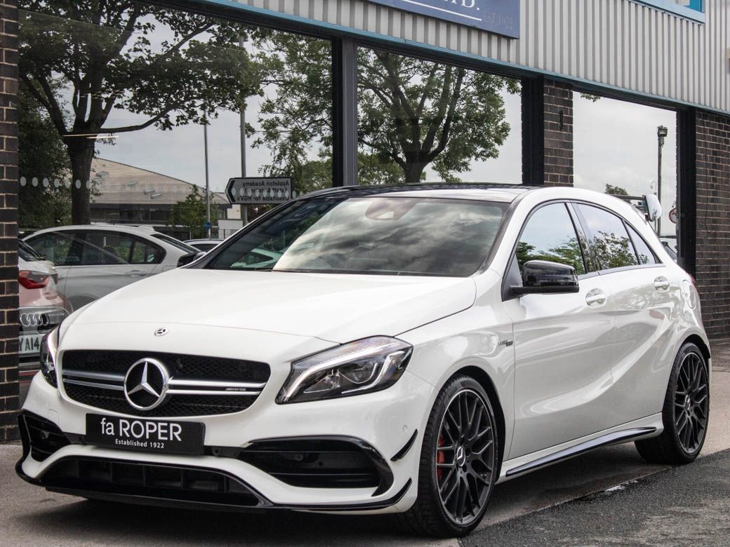 Mercedes-Benz A Class 2.0 A45 4MATIC Premium Auto 381ps +++Spec Hatchback Petrol Cirrus White