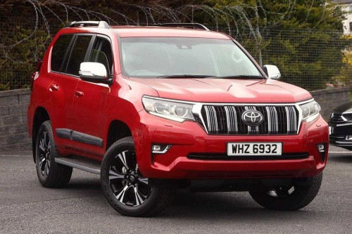 Toyota Land Cruiser 2.8 D-4D 4X4 Invincible (177bhp) (7st) Estate Diesel Red