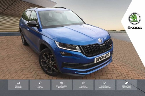 Skoda Kodiaq 2.0 BiTDI (239ps) 4X4 vRS (7 seats) DSG Estate Diesel Race Blue