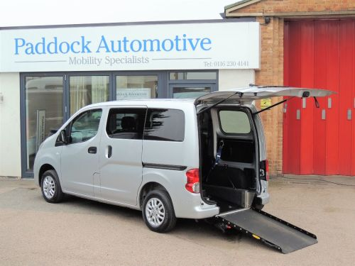 Nissan NV200 1.5 dCi 89 SE Disabled Wheelchair Adapted Vehicle WAV Wheelchair Adapted Diesel Silver Mica