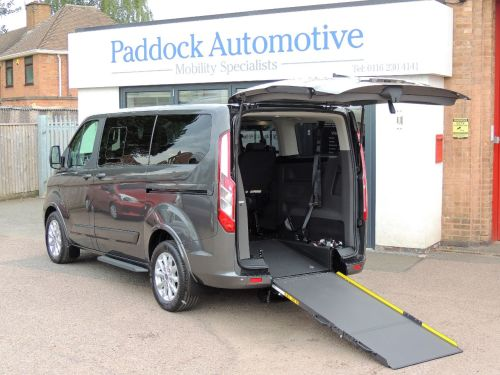 Ford Tourneo Custom 2.0 CUSTOM 310 TITANIUM Disabled Wheelchair Adapted Vehicle Wheelchair Adapted Diesel Magnetic Grey Metallic