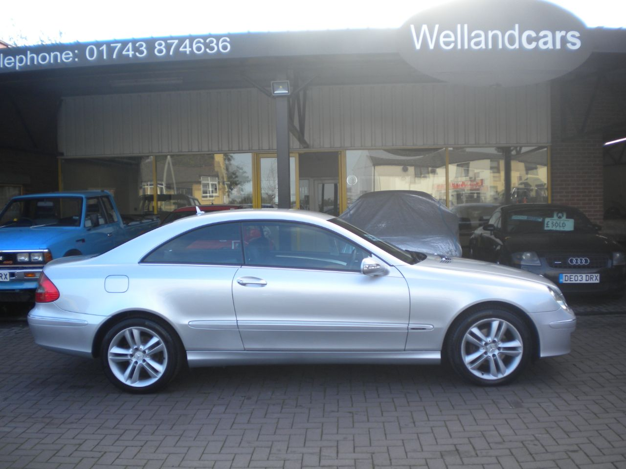 Mercedes-Benz CLK 2.1 220 CDi Avantgarde 2dr Tip Auto, F/S/H, 1 Previous Owner, Heated Artico Leather Seats Coupe Diesel Silver at Welland Cars Shrewsbury