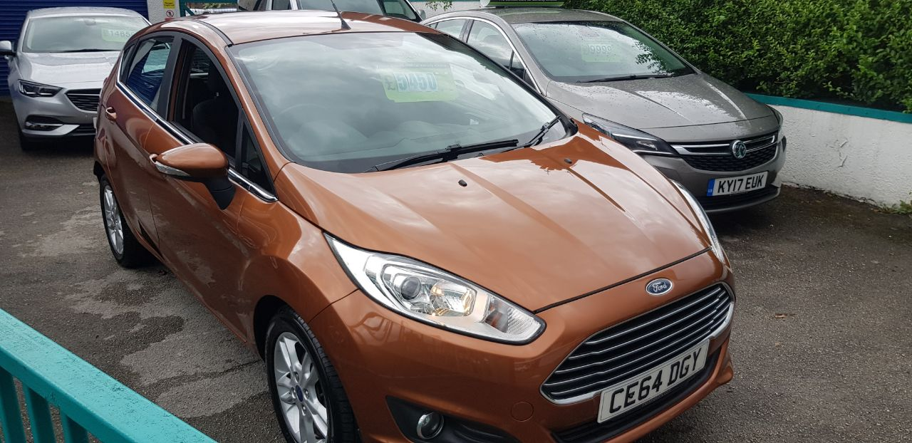 Ford Fiesta 1.5 TDCi Zetec 5dr Hatchback Diesel Yellow at Glynn Andrews Widnes