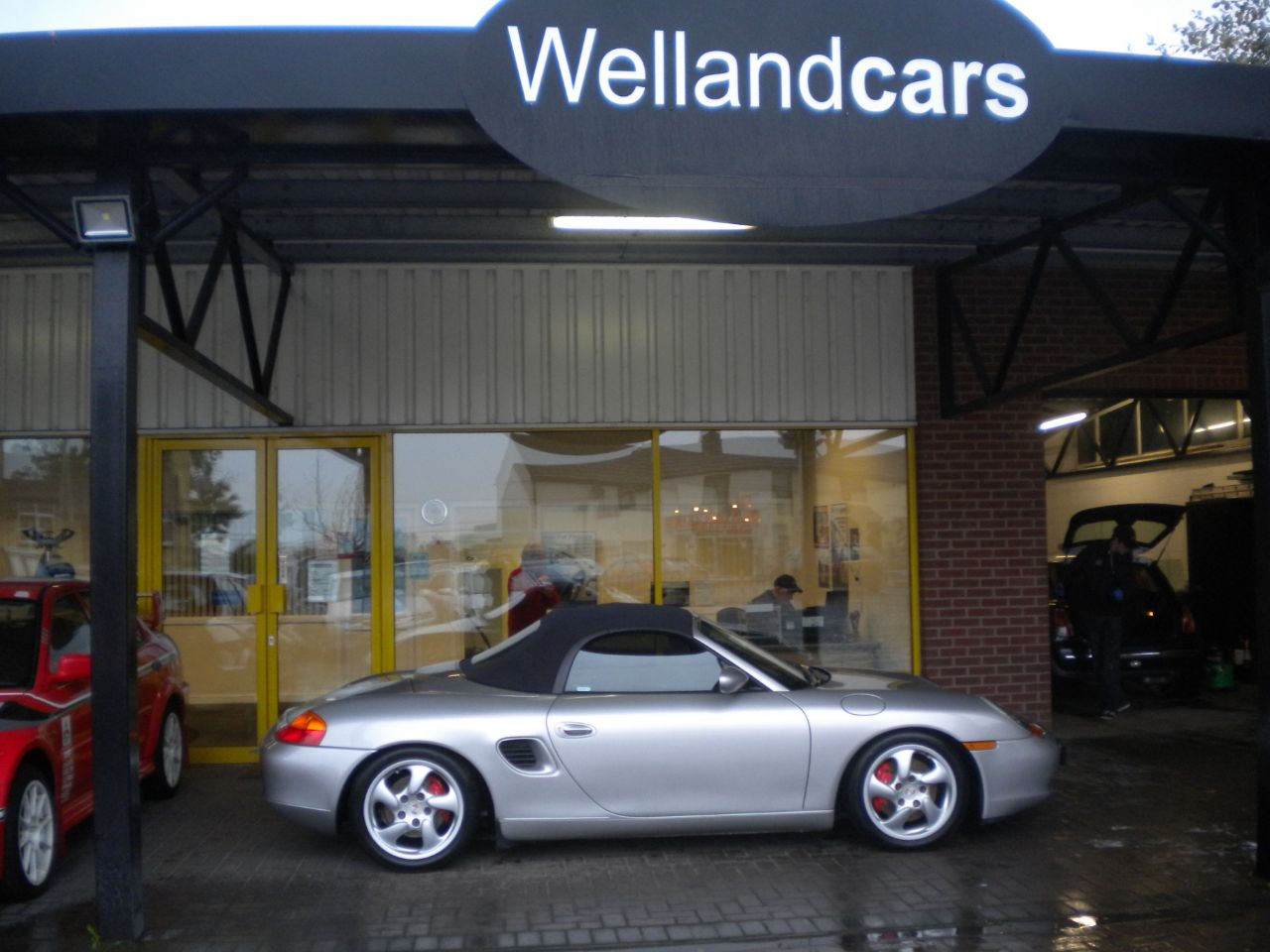 Porsche Boxster 3.2 S 2dr Full Service History,Leather Seats, Blue Power Hood Convertible Petrol Silver at Welland Cars Shrewsbury