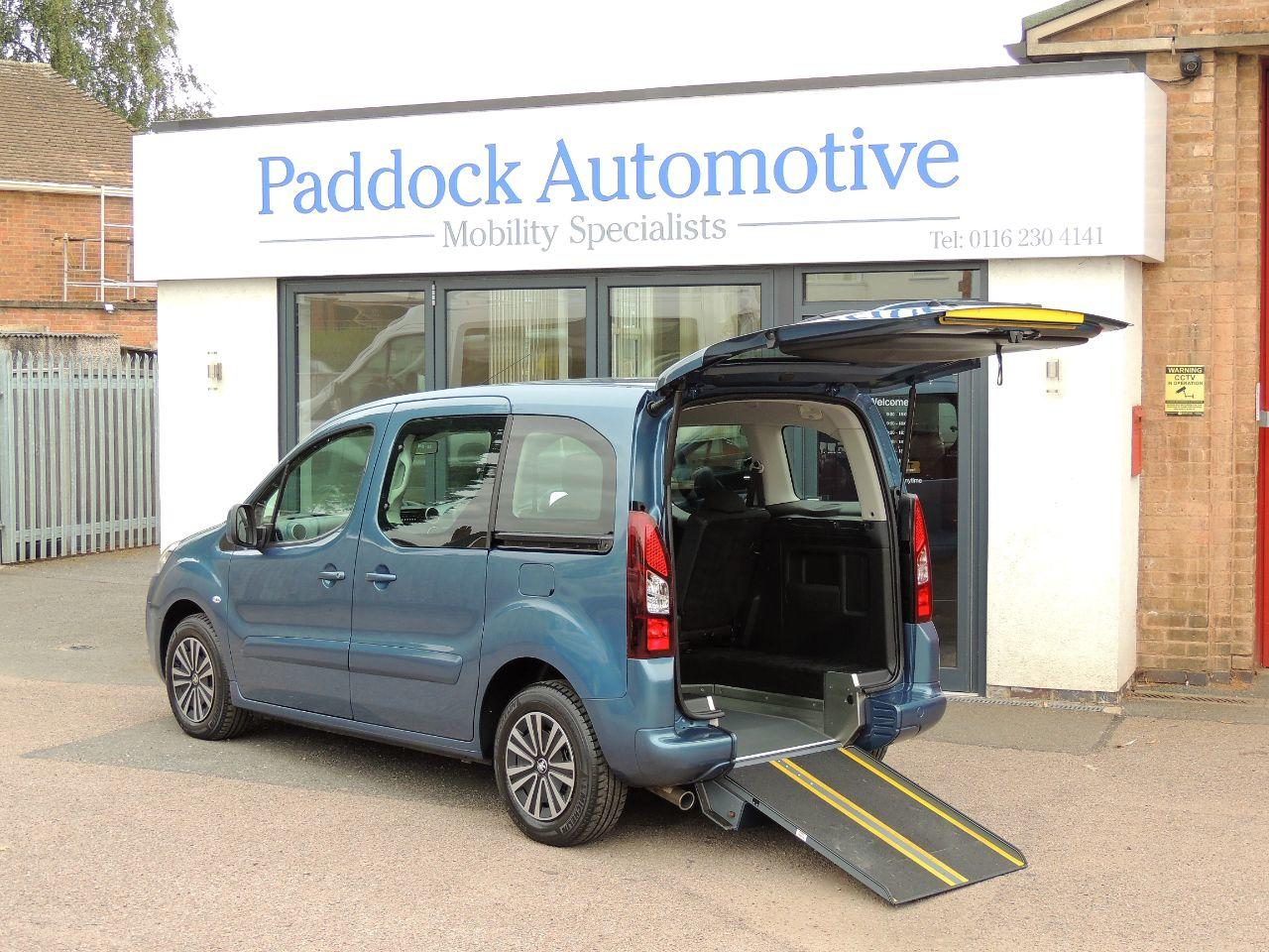 Peugeot Partner Tepee 1.6 e-HDi 92 S Automatic Passenger Up Front Disabled Wheelchair Adapted Vehicle WAV Wheelchair Adapted Diesel Blue Mica