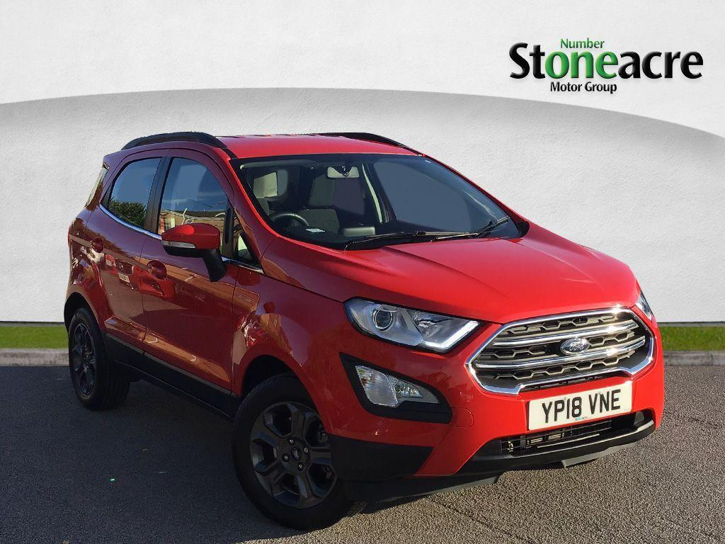 Ford Ecosport 1.0 T EcoBoost Zetec SUV 5dr Petrol (s/s) (125 ps) SUV Petrol Red