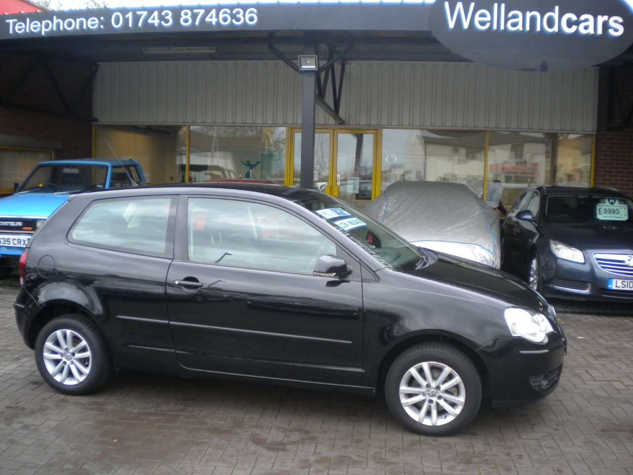Volkswagen Polo 1.2 S 55 3dr, F/S/H, Economical to run, CD, Alloy Wheels, Air-conditioning Hatchback Petrol Black at Welland Cars Shrewsbury